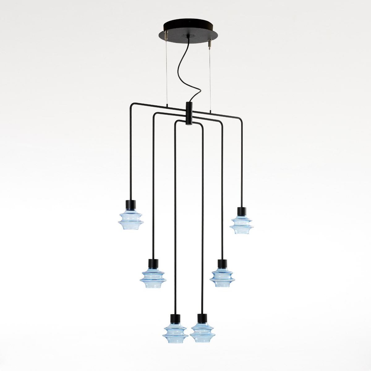 Hanglampen 6 Set Glas Led