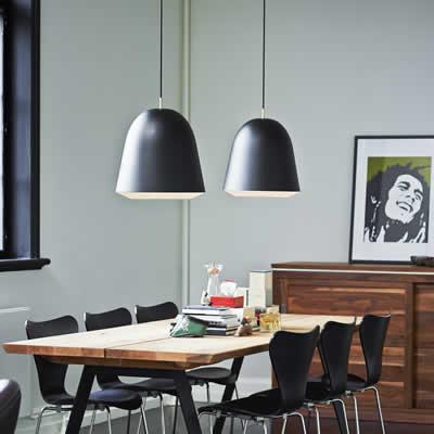 Klassieke moderne hang keukenlampen for Lampen eettafel design