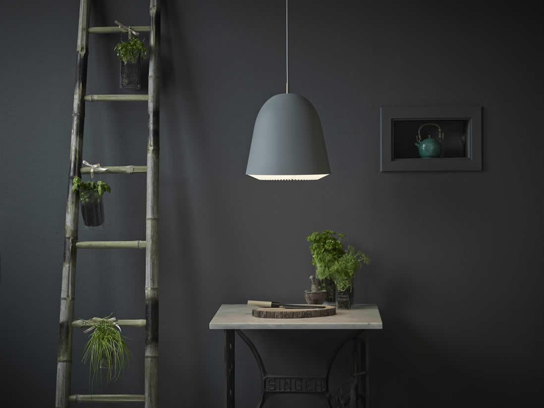 Tijdloze retro lampen in grijs & zwart