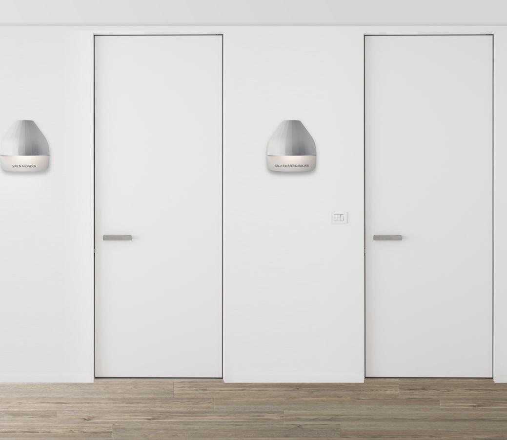 Moderne led design buitenlamp voordeur for Hal ingang