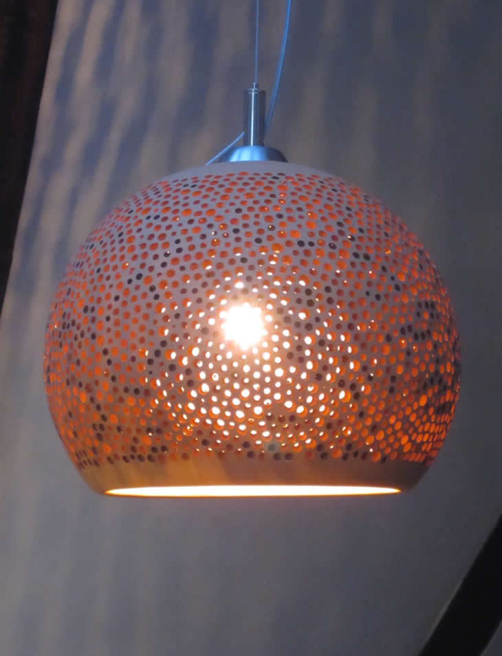 Hanglamp Eettafel Keramiek Led Sponge Up