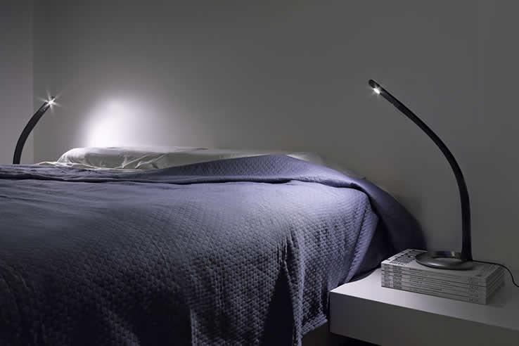Slaapkamer Verlichting Design: Design bed alina met led verlichting.