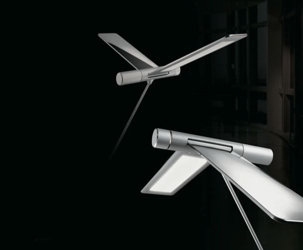 Design leeslicht en dimbare led staande lamp