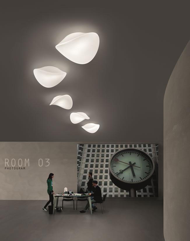 Design hanglamp en design verlichting in drie maten for Design plafondlamp