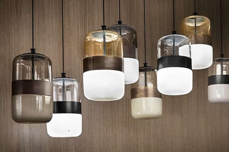 Plafonflamp | Glazen design lampen woonkamer
