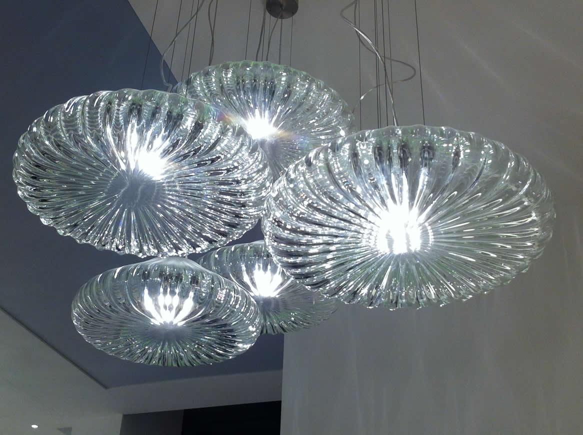 Stijlvol Kristallen Hanglampen : Stijlvolle glas design hanglampen