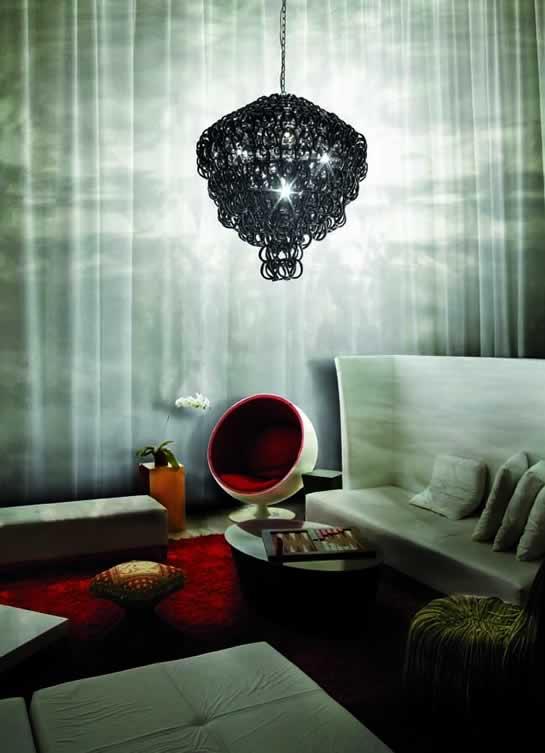 Glas kroonluchters en klassieke kristallen hanglampen