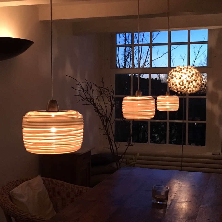 Glazen lampen van kristalglas in diverse maten en uitvoeringen for Lampen eettafel design