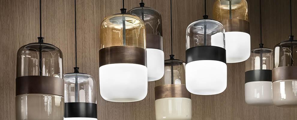 Hanglampen | Glazen design lampen eetafel