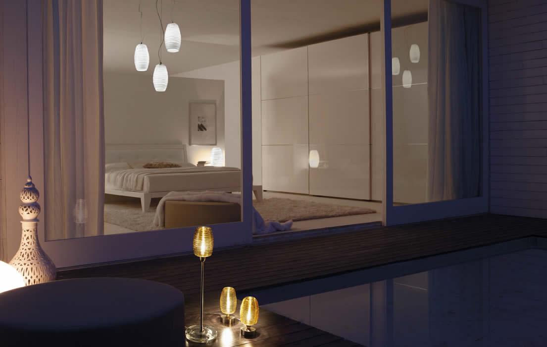klassieke tafellampen van muranoglas damasco