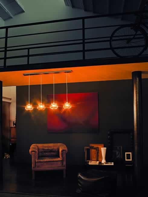 Stijlvolle glas design hanglampen for Led hanglampen woonkamer