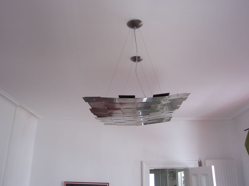Hanglamp en plafondlamp rvs design plafondverlichting for Design plafondlamp