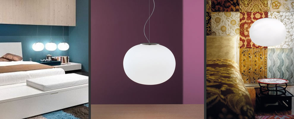 grote witte bol glas hanglamp