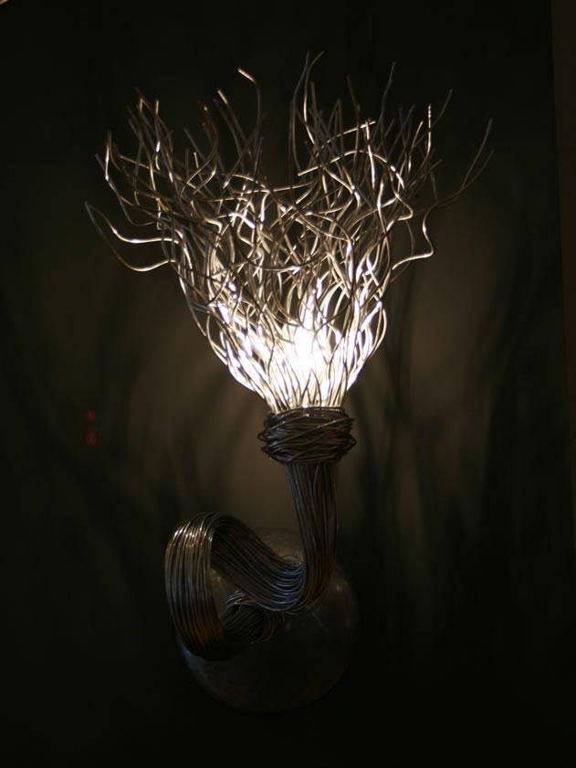 Design wandlamp rvs en moderne wandverlichting.