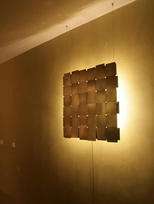 Wandlamp Lichtobject Design Roestvrij Staal Golf Up