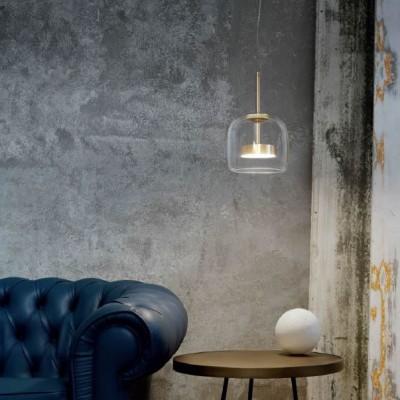 Glazen led hanglampen mondgeblazen keuken eettafel woonkamer