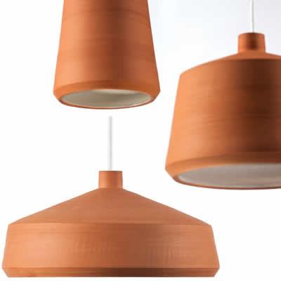Aardewerk hanglampen voor de keuken en eettafel