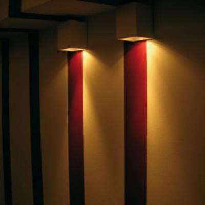 Gips wandlamp met licht naar boven of naar  beneden