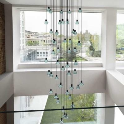 glas led hanglampen in bundels en clusters